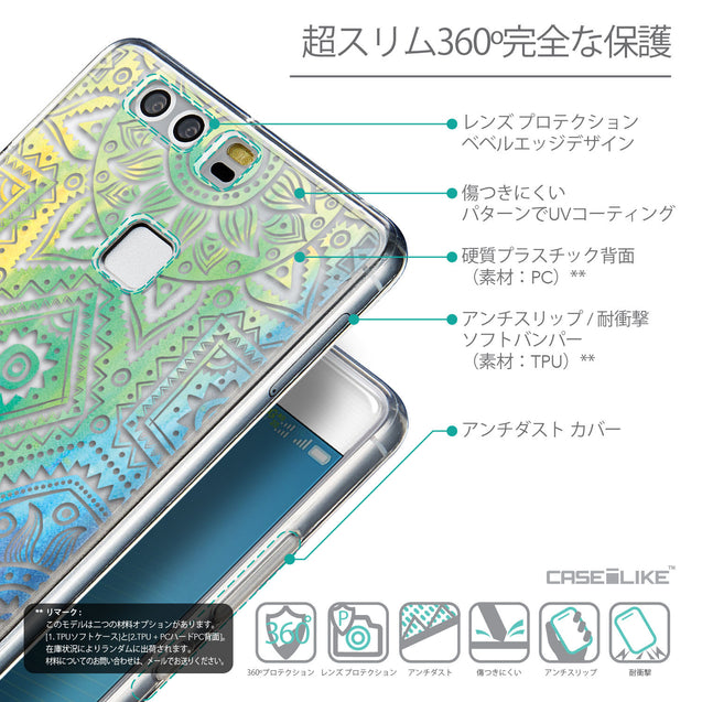 Details in Japanese - CASEiLIKE Huawei P9 back cover Indian Line Art 2064