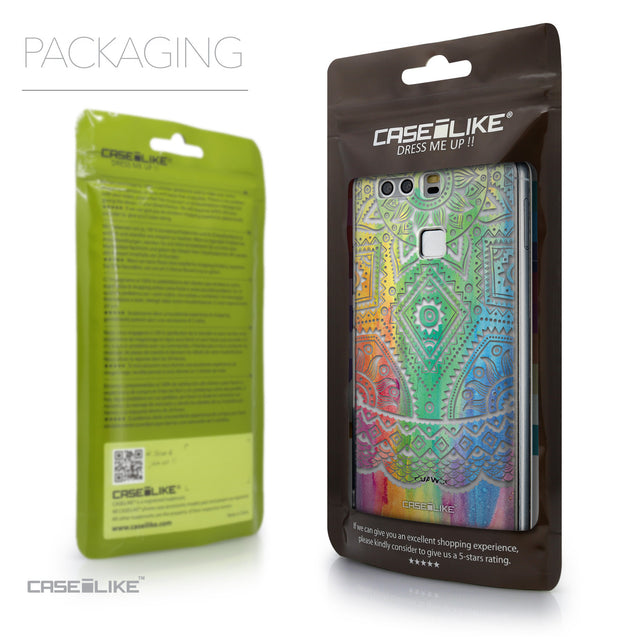 Packaging - CASEiLIKE Huawei P9 back cover Indian Line Art 2064