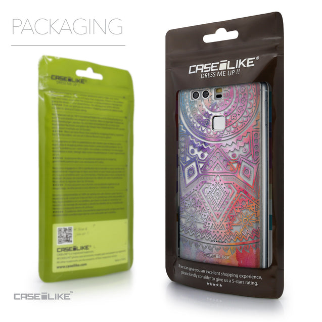 Packaging - CASEiLIKE Huawei P9 back cover Indian Line Art 2065