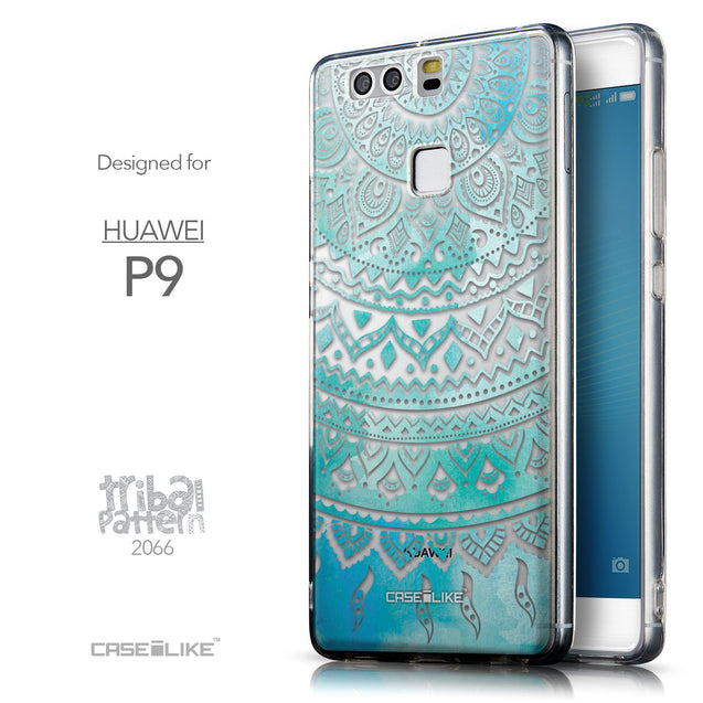 Front & Side View - CASEiLIKE Huawei P9 back cover Indian Line Art 2066