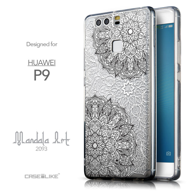 Front & Side View - CASEiLIKE Huawei P9 back cover Mandala Art 2093