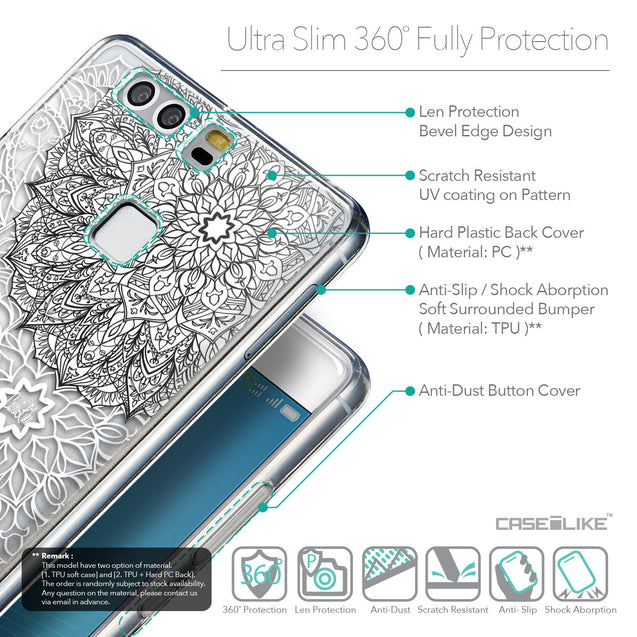 Details in English - CASEiLIKE Huawei P9 back cover Mandala Art 2093