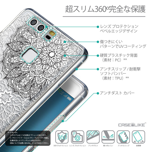Details in Japanese - CASEiLIKE Huawei P9 back cover Mandala Art 2093