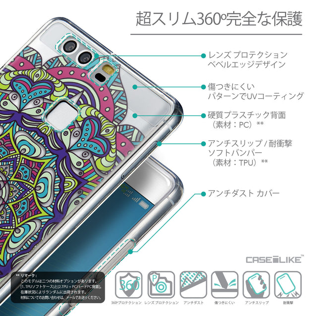 Details in Japanese - CASEiLIKE Huawei P9 back cover Mandala Art 2094