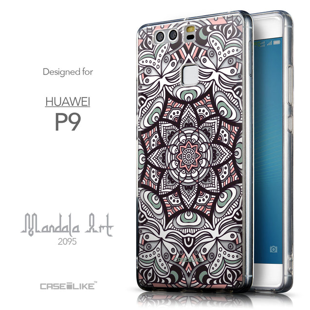 Front & Side View - CASEiLIKE Huawei P9 back cover Mandala Art 2095