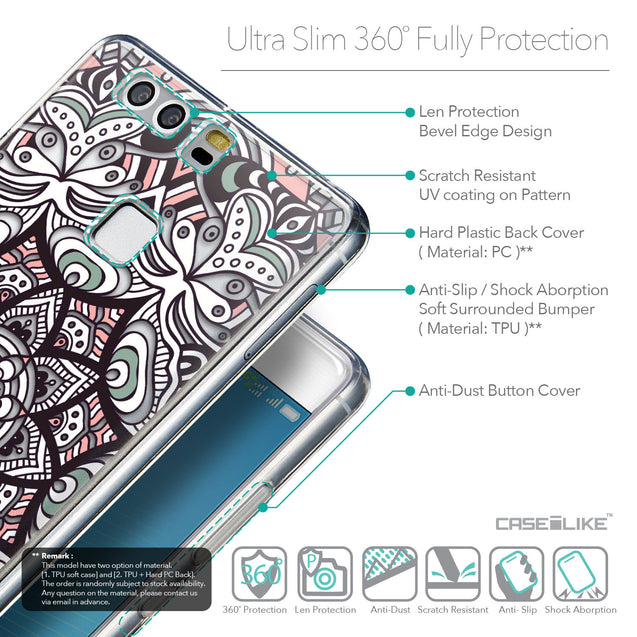 Details in English - CASEiLIKE Huawei P9 back cover Mandala Art 2095
