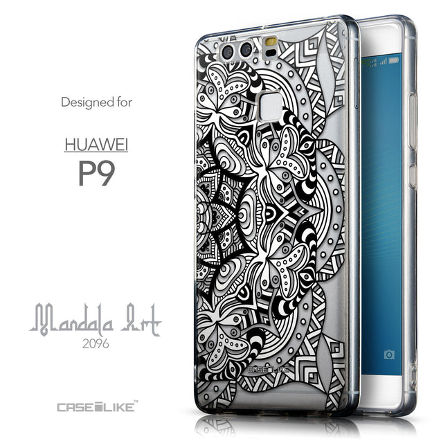 Front & Side View - CASEiLIKE Huawei P9 back cover Mandala Art 2096