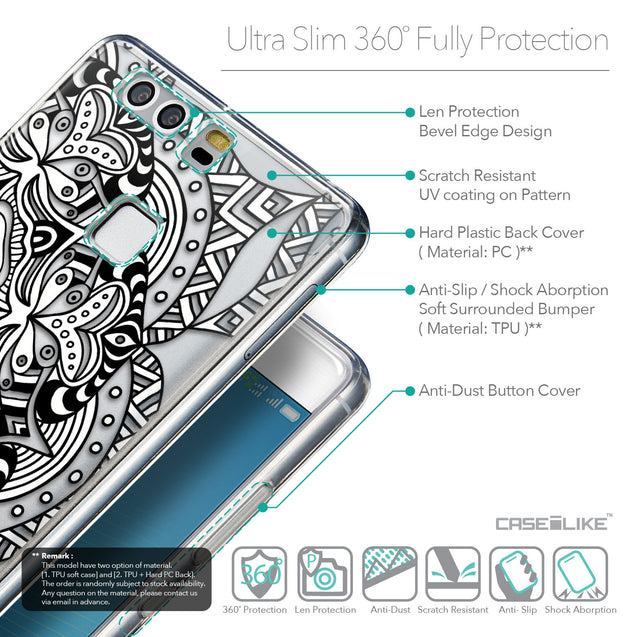 Details in English - CASEiLIKE Huawei P9 back cover Mandala Art 2096