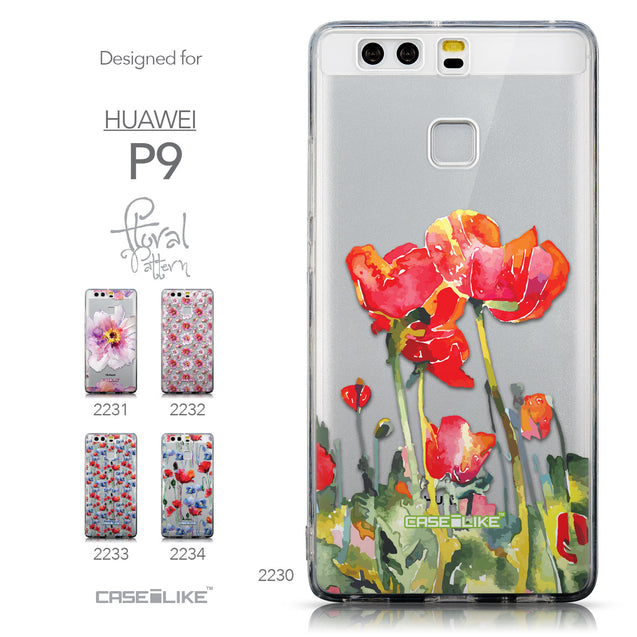 Collection - CASEiLIKE Huawei P9 back cover Watercolor Floral 2230