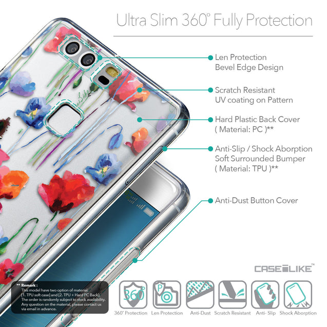 Details in English - CASEiLIKE Huawei P9 back cover Indian Line Art 2061