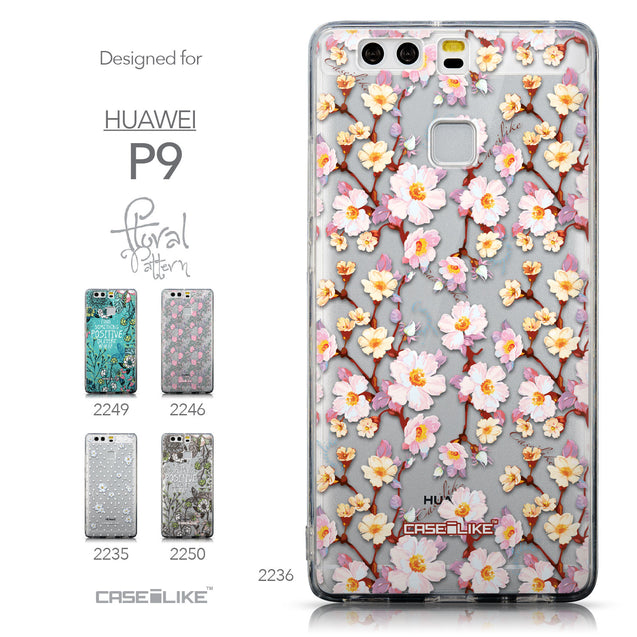 Collection - CASEiLIKE Huawei P9 back cover Watercolor Floral 2236