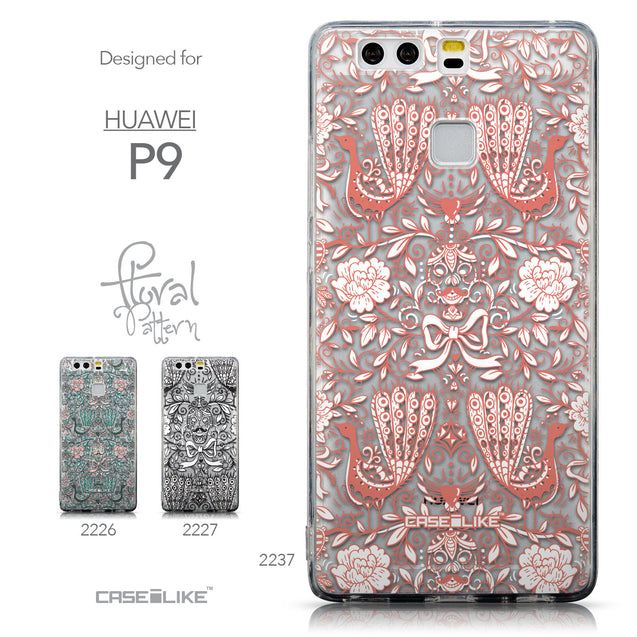 Collection - CASEiLIKE Huawei P9 back cover Roses Ornamental Skulls Peacocks 2237