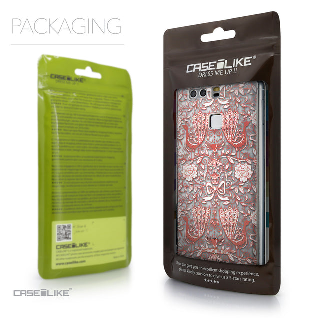 Packaging - CASEiLIKE Huawei P9 back cover Roses Ornamental Skulls Peacocks 2237