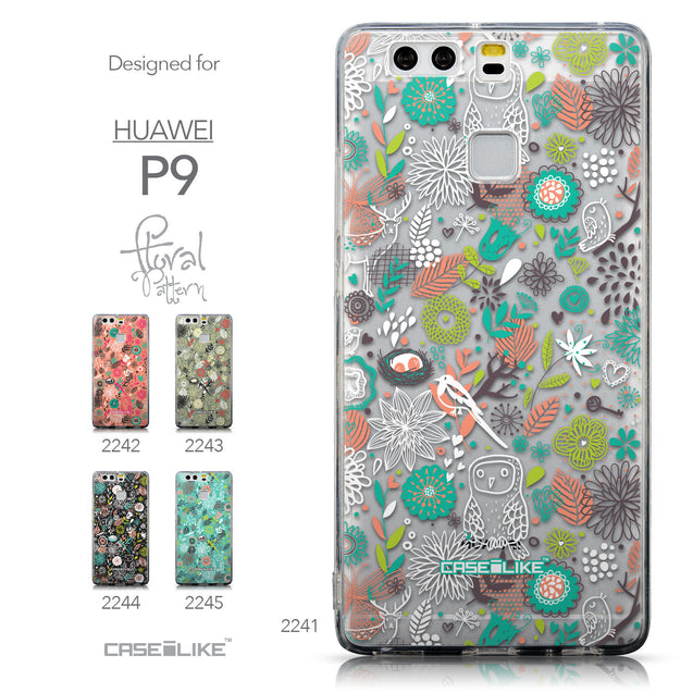 Collection - CASEiLIKE Huawei P9 back cover Spring Forest White 2241