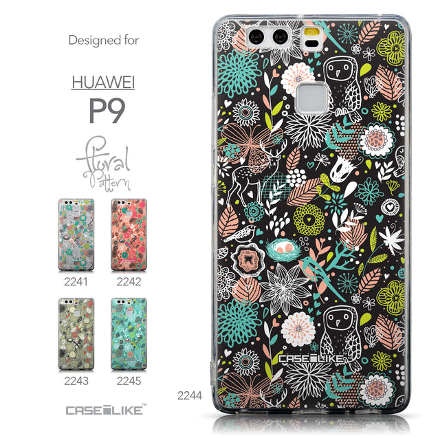 Collection - CASEiLIKE Huawei P9 back cover Spring Forest Black 2244