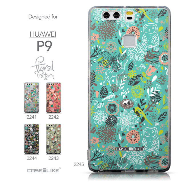 Collection - CASEiLIKE Huawei P9 back cover Spring Forest Turquoise 2245