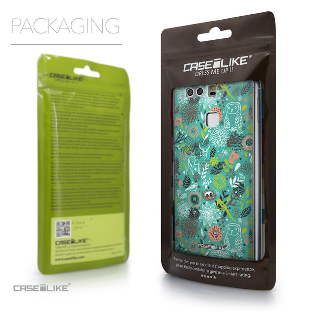 Packaging - CASEiLIKE Huawei P9 back cover Spring Forest Turquoise 2245