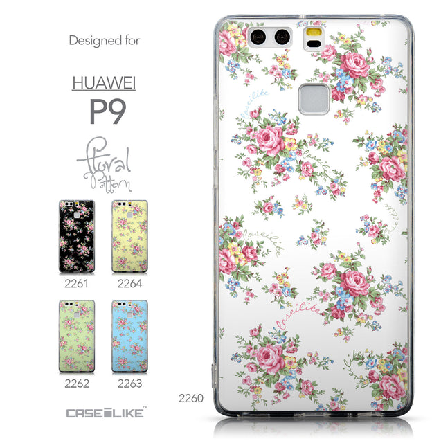 Collection - CASEiLIKE Huawei P9 back cover Floral Rose Classic 2260
