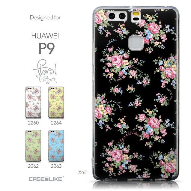 Collection - CASEiLIKE Huawei P9 back cover Floral Rose Classic 2261