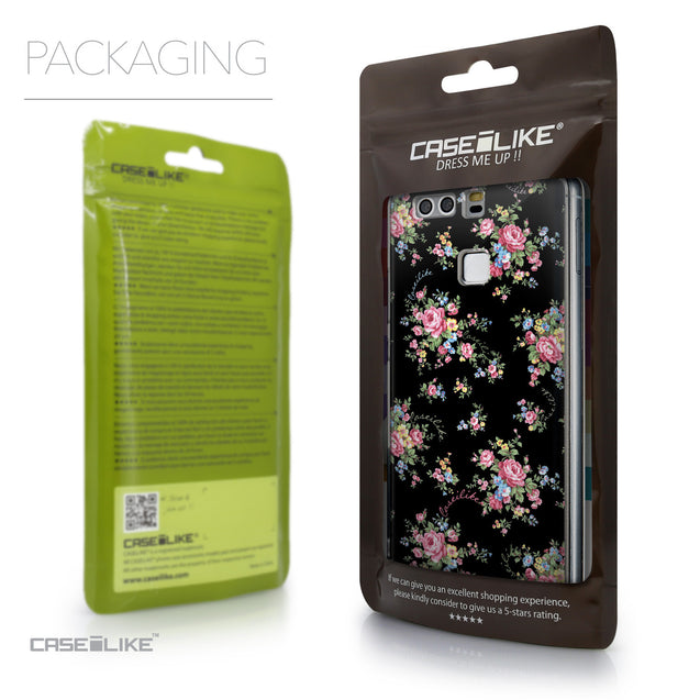 Packaging - CASEiLIKE Huawei P9 back cover Floral Rose Classic 2261