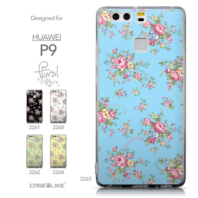Collection - CASEiLIKE Huawei P9 back cover Floral Rose Classic 2263