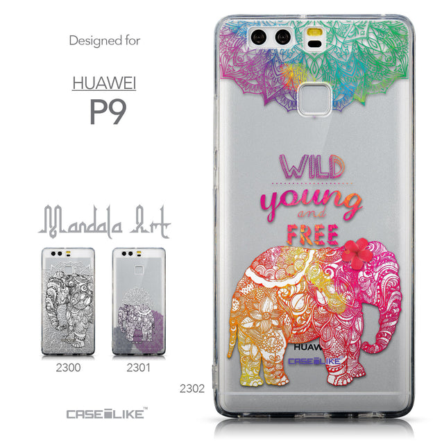 Collection - CASEiLIKE Huawei P9 back cover Mandala Art 2302