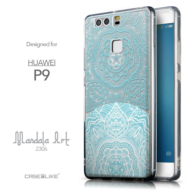 Front & Side View - CASEiLIKE Huawei P9 back cover Mandala Art 2306
