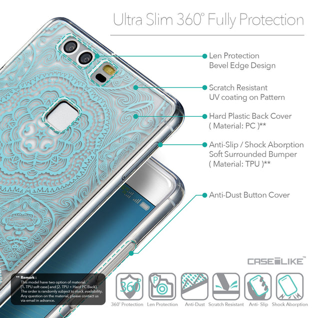 Details in English - CASEiLIKE Huawei P9 back cover Mandala Art 2306