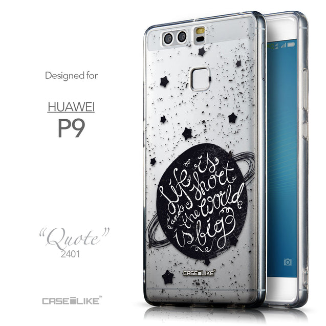 Front & Side View - CASEiLIKE Huawei P9 back cover Quote 2401