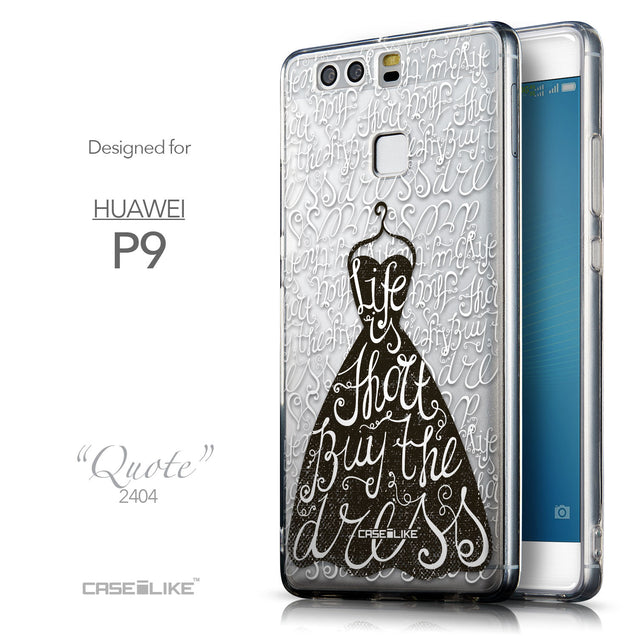 Front & Side View - CASEiLIKE Huawei P9 back cover Indian Tribal Theme Pattern 2053