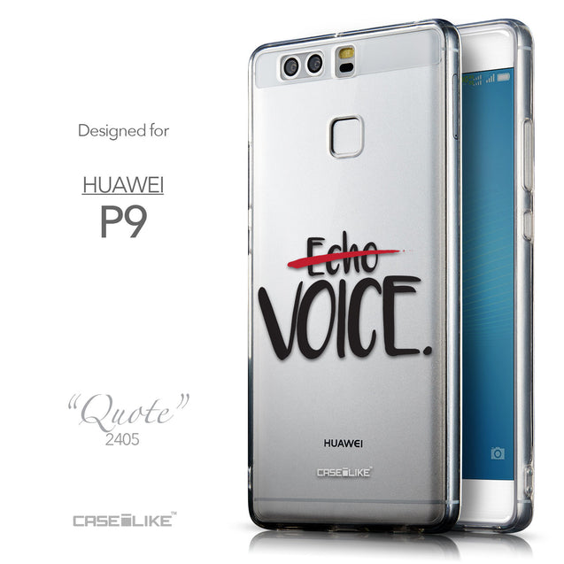 Front & Side View - CASEiLIKE Huawei P9 back cover Quote 2405