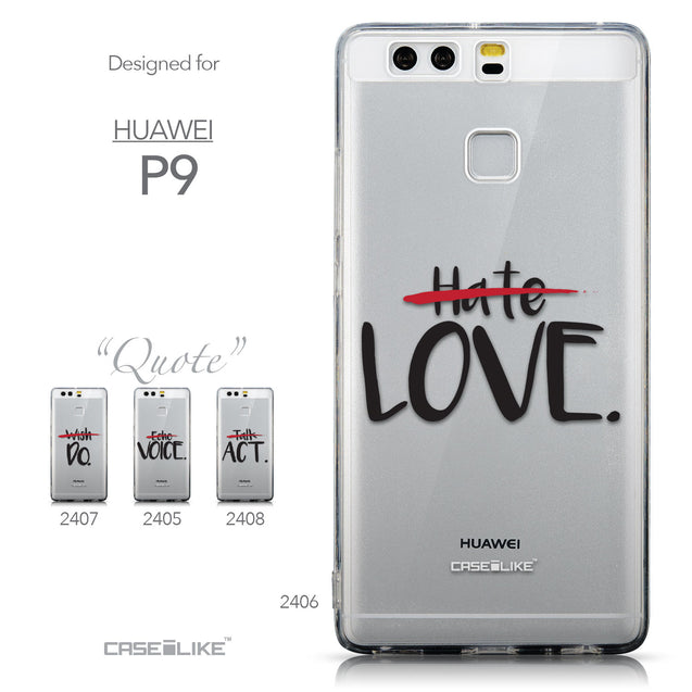 Collection - CASEiLIKE Huawei P9 back cover Quote 2406