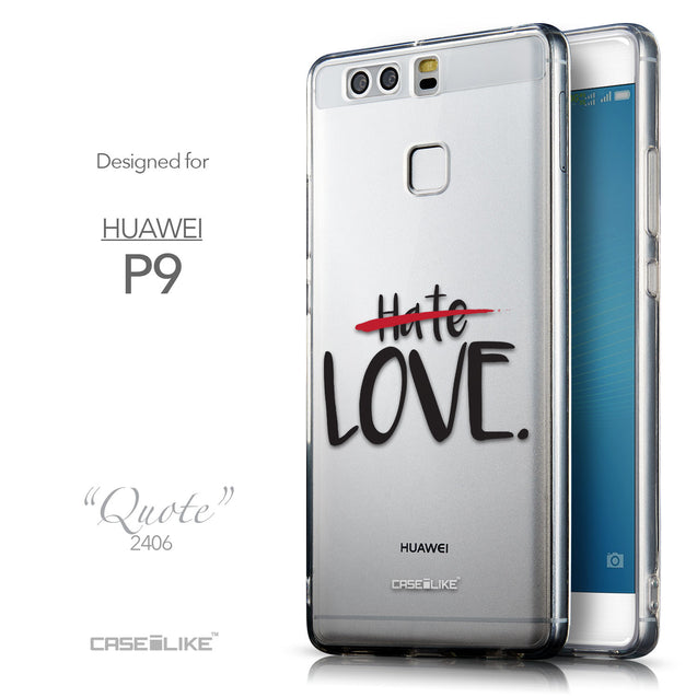 Front & Side View - CASEiLIKE Huawei P9 back cover Quote 2406