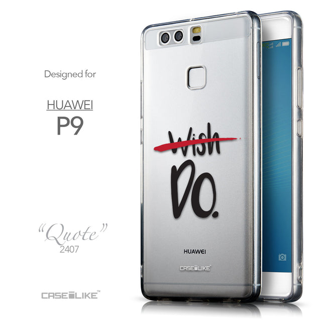 Front & Side View - CASEiLIKE Huawei P9 back cover Quote 2407
