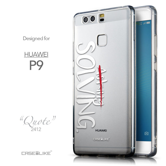 Front & Side View - CASEiLIKE Huawei P9 back cover Quote 2412