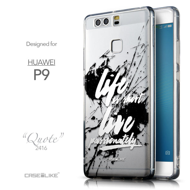 Front & Side View - CASEiLIKE Huawei P9 back cover Quote 2416