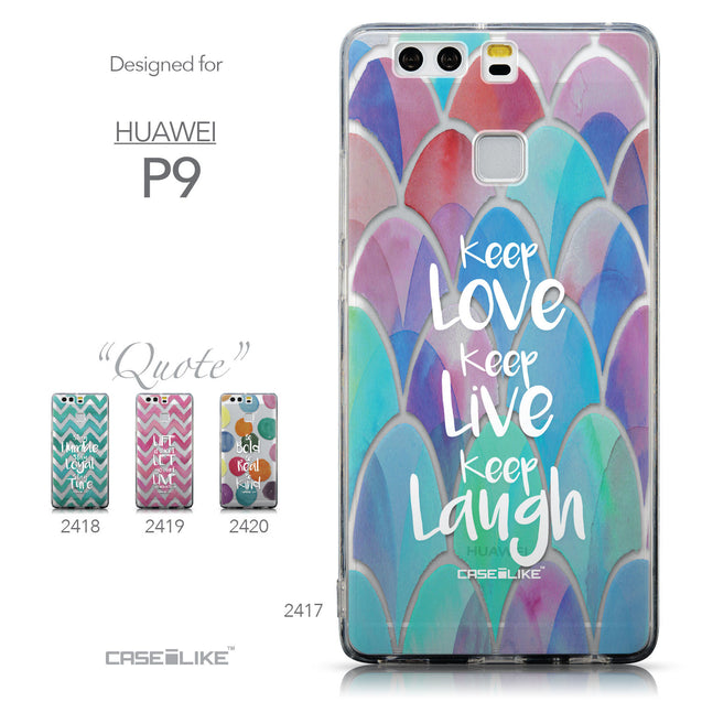Collection - CASEiLIKE Huawei P9 back cover Quote 2417