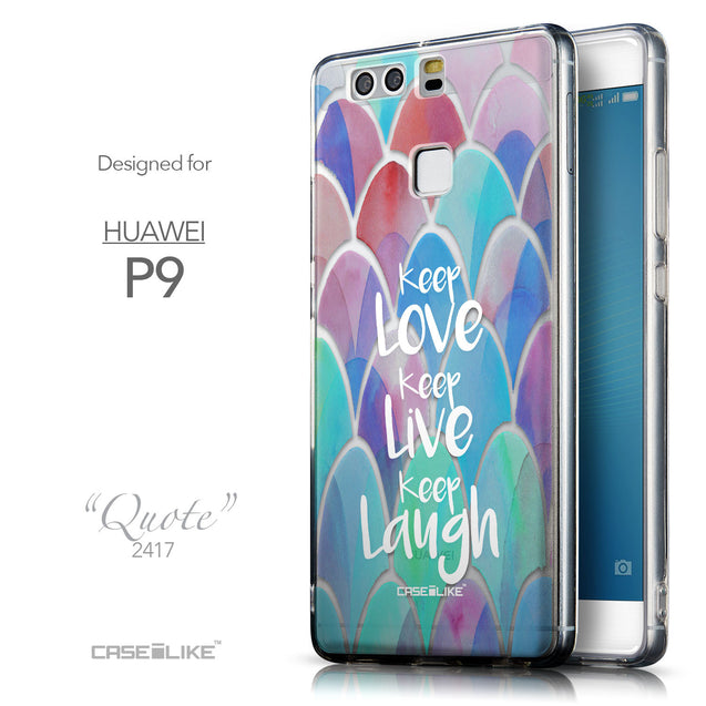 Front & Side View - CASEiLIKE Huawei P9 back cover Quote 2417