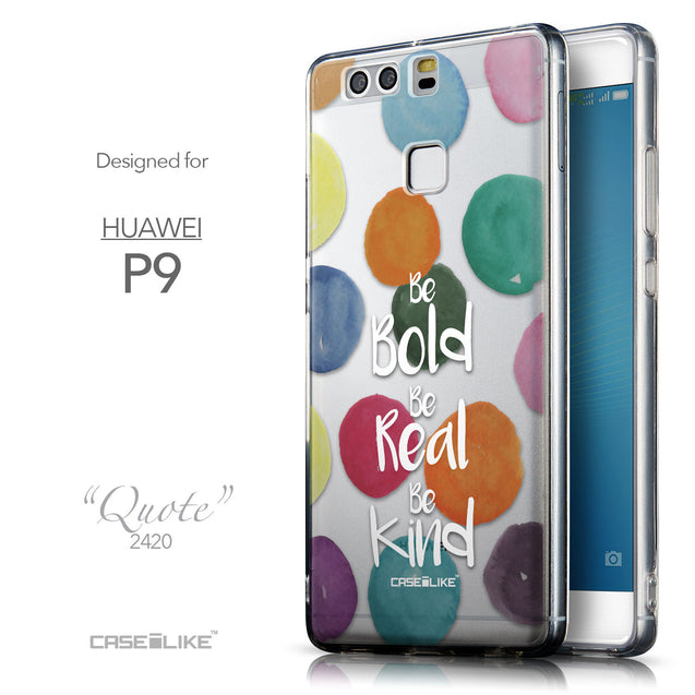 Front & Side View - CASEiLIKE Huawei P9 back cover Quote 2420