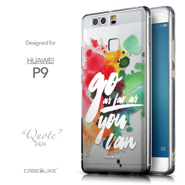 Front & Side View - CASEiLIKE Huawei P9 back cover Quote 2424
