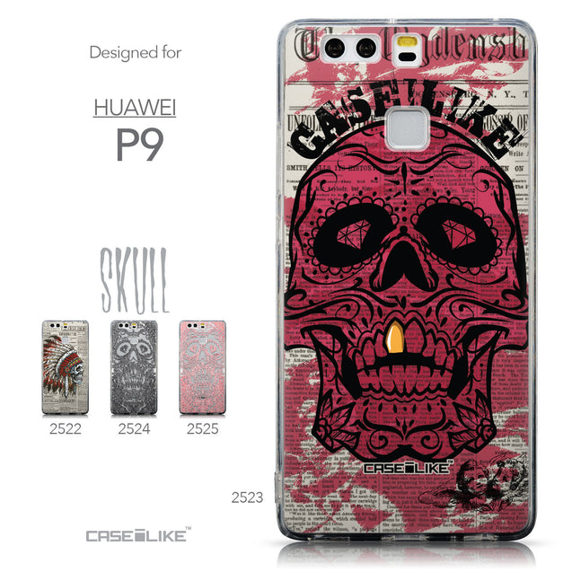 Collection - CASEiLIKE Huawei P9 back cover Art of Skull 2523