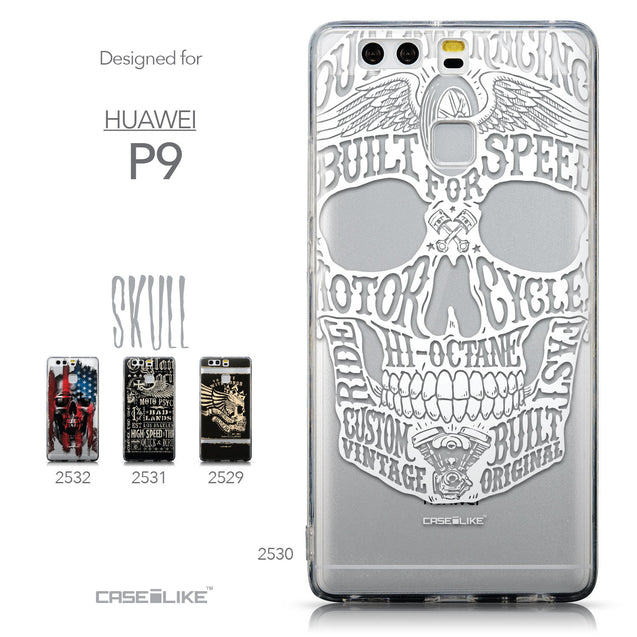 Collection - CASEiLIKE Huawei P9 back cover Art of Skull 2530