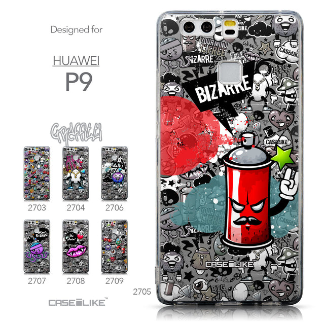 Collection - CASEiLIKE Huawei P9 back cover Graffiti 2705