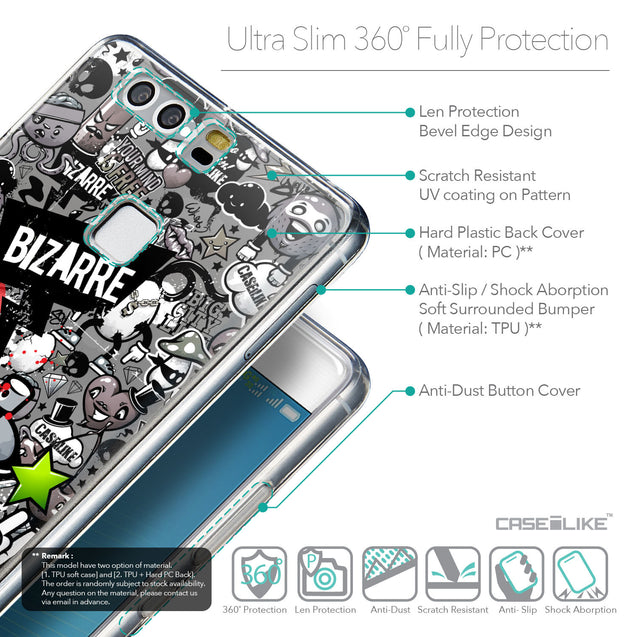 Details in English - CASEiLIKE Huawei P9 back cover Graffiti 2705