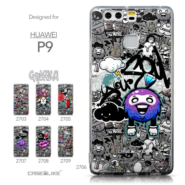 Collection - CASEiLIKE Huawei P9 back cover Graffiti 2706
