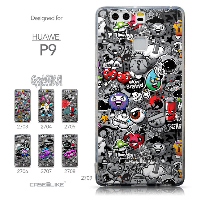 Collection - CASEiLIKE Huawei P9 back cover Graffiti 2709