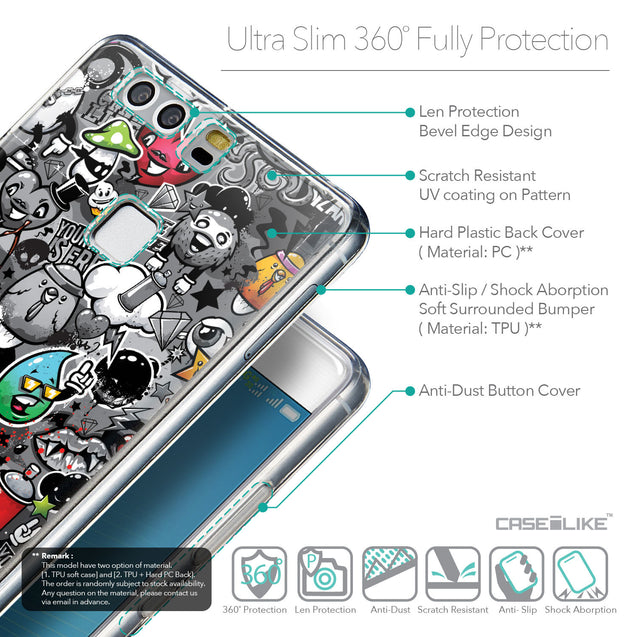 Details in English - CASEiLIKE Huawei P9 back cover Graffiti 2709
