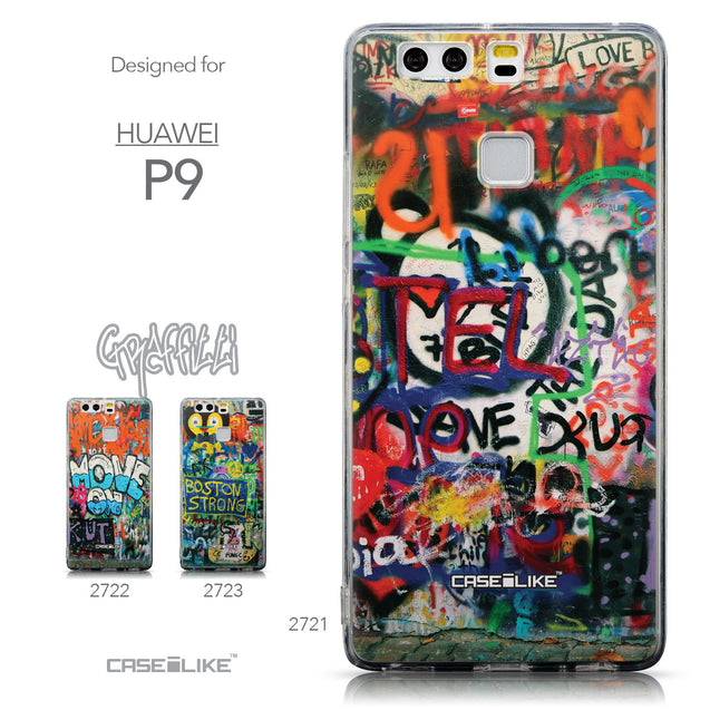 Collection - CASEiLIKE Huawei P9 back cover Graffiti 2721
