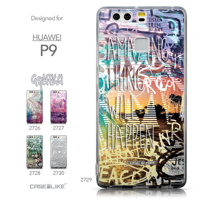 Collection - CASEiLIKE Huawei P9 back cover Graffiti 2729
