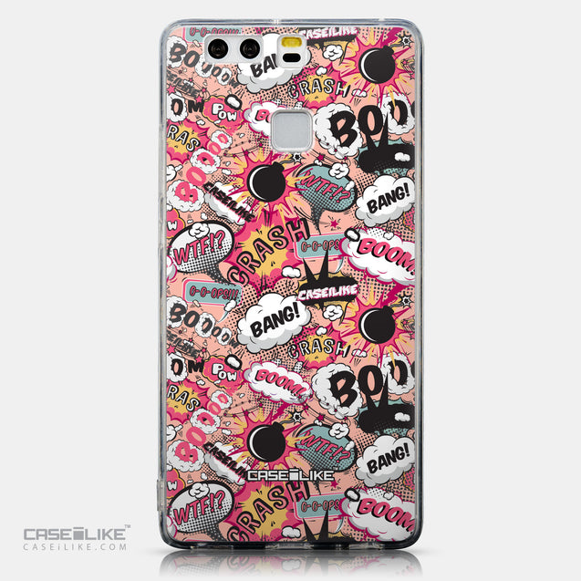 CASEiLIKE Huawei P9 back cover Comic Captions Pink 2912